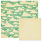 We R Memory Keepers - 72 and Sunny Collection - 12 x 12 Double Sided Paper - Scattered Clouds, CLEARANCE