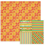 We R Memory Keepers - 72 and Sunny Collection - 12 x 12 Double Sided Paper - Sunkist, CLEARANCE