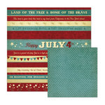 We R Memory Keepers - Old Glory Collection - 12 x 12 Double Sided Paper - 4th of July