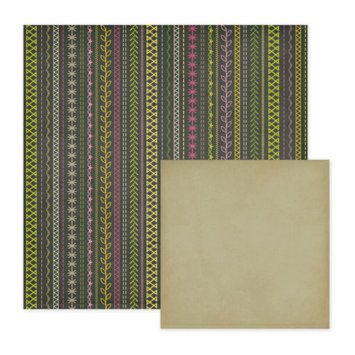 We R Memory Keepers - Retro Glam Collection - 12 x 12 Double Sided Paper - Regina