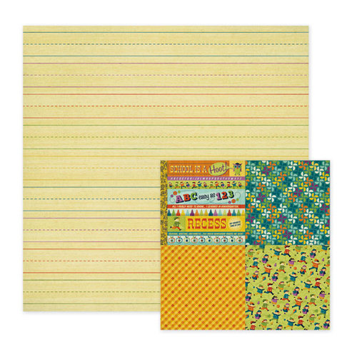 We R Memory Keepers - Show and Tell Collection - 12 x 12 Double Sided Paper - Homework, CLEARANCE