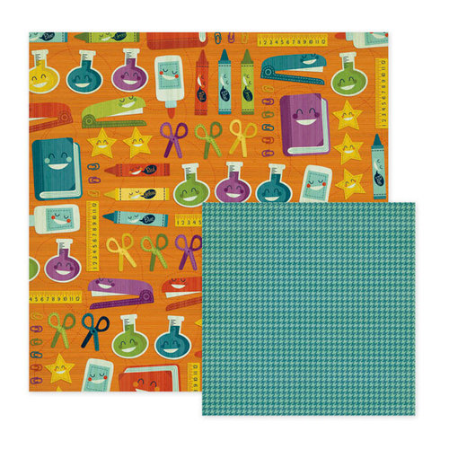 We R Memory Keepers - Show and Tell Collection - 12 x 12 Double Sided Paper - Study Hall, CLEARANCE