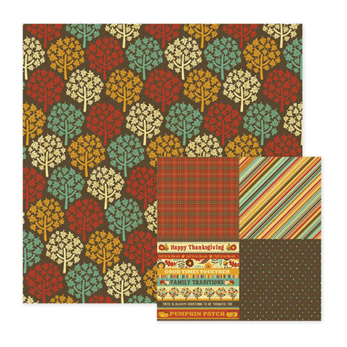 We R Memory Keepers - Maple Grove Collection - 12 x 12 Double Sided Paper - Hickory, CLEARANCE
