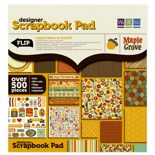 We R Memory Keepers - Maple Grove Collection - 12 x 12 Designer Scrapbook Pad with Foil Accents