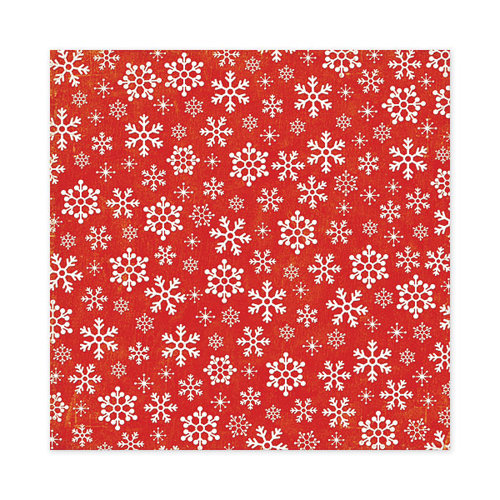 We R Memory Keepers - White Christmas Collection - 12 x 12 Flocked Paper - Snow Flurry