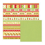 We R Memory Keepers - White Christmas Collection - 12 x 12 Double Sided Paper - Ho Ho Ho