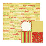 We R Memory Keepers - White Christmas Collection - 12 x 12 Double Sided Paper - Holiday Cheer, CLEARANCE