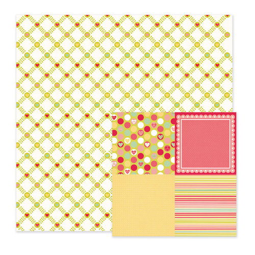 We R Memory Keepers - Be My Valentine Collection - 12 x 12 Double Sided Paper - Sweetness