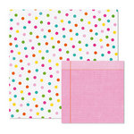 We R Memory Keepers - Peep Collection - Easter - 12 x 12 Double Sided Paper - Dots, BRAND NEW