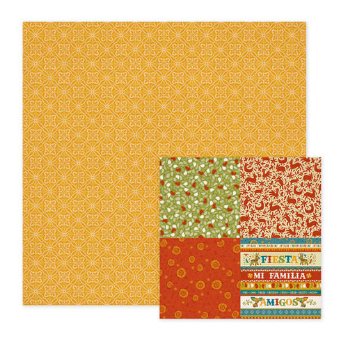 We R Memory Keepers - Fiesta Collection - 12 x 12 Double Sided Paper - Hola