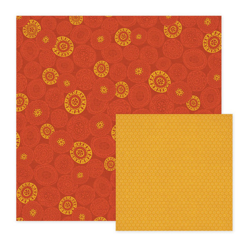 We R Memory Keepers - Fiesta Collection - 12 x 12 Double Sided Paper - Rubia
