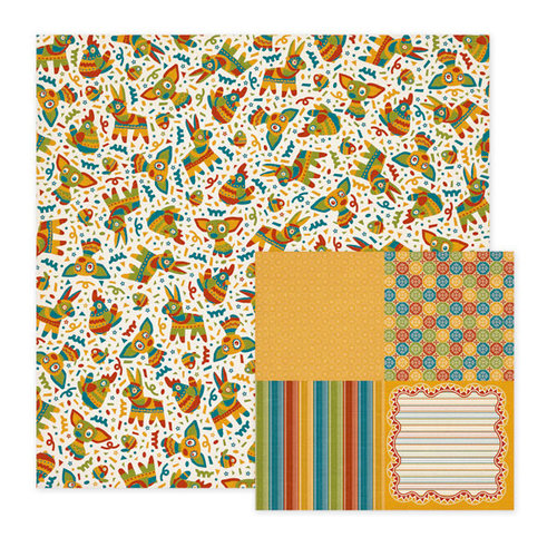 We R Memory Keepers - Fiesta Collection - 12 x 12 Double Sided Paper - Pinata