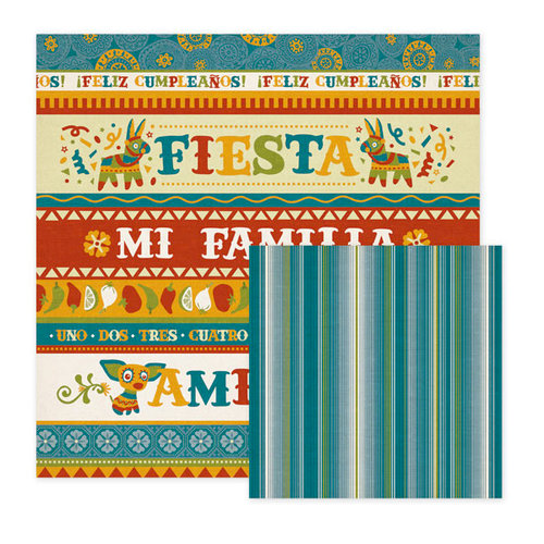 We R Memory Keepers - Fiesta Collection - 12 x 12 Double Sided Paper - Amigos