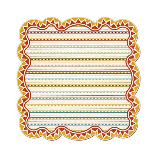 We R Memory Keepers - Fiesta Collection - 12 x 12 Die Cut Paper - Grande