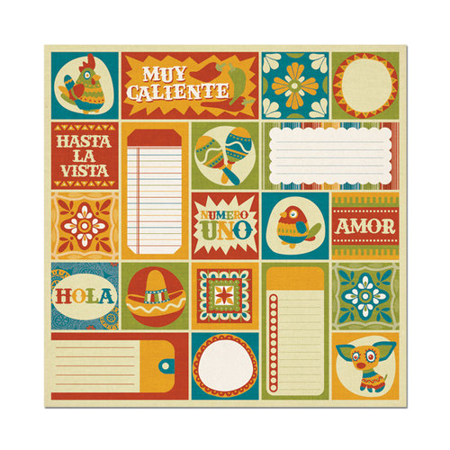 We R Memory Keepers - Fiesta Collection - 12 x 12 Flocked Paper - Caliente