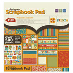 We R Memory Keepers - Fiesta Collection - 12 x 12 Designer Scrapbook Pad with Flocked Accents