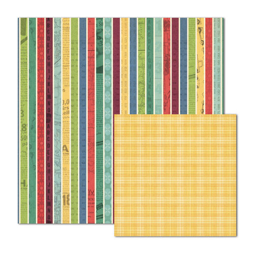 We R Memory Keepers - Travel Light Collection - 12 x 12 Double Sided Paper - Jolly Holiday