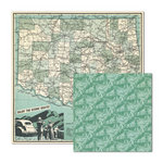 We R Memory Keepers - Travel Light Collection - 12 x 12 Double Sided Paper - Scenic Route