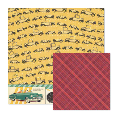 We R Memory Keepers - Travel Light Collection - 12 x 12 Double Sided Paper - Traffic Jam