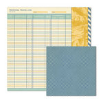 We R Memory Keepers - Travel Light Collection - 12 x 12 Double Sided Paper - Travel Log