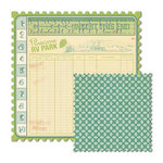 We R Memory Keepers - Travel Light Collection - 12 x 12 Double Sided Die Cut Paper - Punch Card