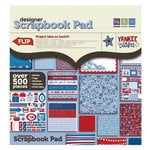 We R Memory Keepers - Yankee Doodles Collection - 12 x 12 Designer Scrapbook Pad with Glitter Accents