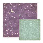 We R Memory Keepers - Spookville Collection - Halloween - 12 x 12 Double Sided Paper - Magic Moon