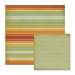 We R Memory Keepers - Autumn Splendor Collection - 12 x 12 Double Sided Paper - Sunset