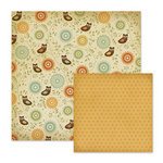 We R Memory Keepers - Autumn Splendor Collection - 12 x 12 Double Sided Paper - Willow