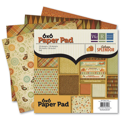 We R Memory Keepers - Autumn Splendor Collection - 6 x 6 Paper Pad