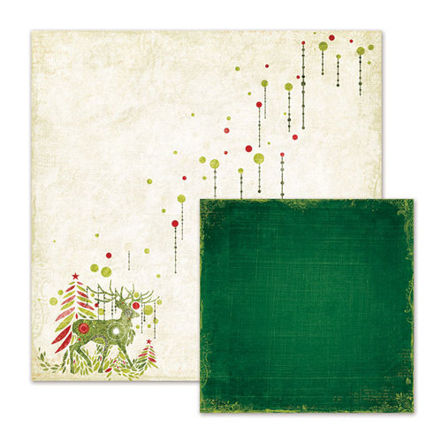 We R Memory Keepers - Peppermint Twist Collection - Christmas - 12 x 12 Double Sided Paper - Winter Wonderland