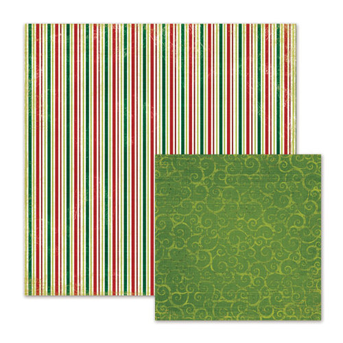 We R Memory Keepers - Peppermint Twist Collection - Christmas - 12 x 12 Double Sided Paper - Christmas Tree