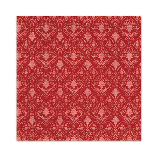 We R Memory Keepers - Peppermint Twist Collection - Christmas - 12 x 12 Glitter Paper - Pomegranate