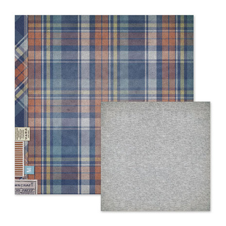 We R Memory Keepers - Vintage T Collection - 12 x 12 Double Sided Paper - Flannel Shirt