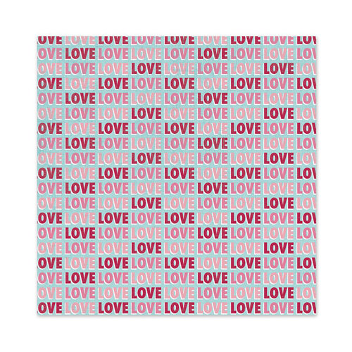 We R Memory Keepers - Love Struck Collection - 12 x 12 Glitter Paper - Love