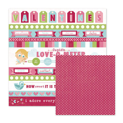 We R Memory Keepers - Love Struck Collection - 12 x 12 Double Sided Paper - My Valentine