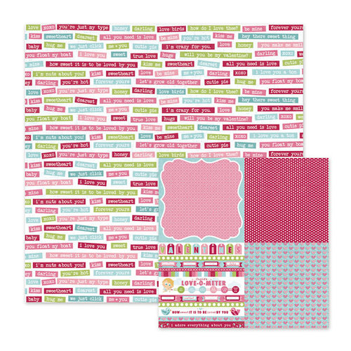 We R Memory Keepers - Love Struck Collection - 12 x 12 Double Sided Paper - Forever