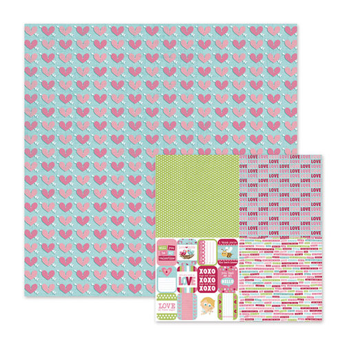 We R Memory Keepers - Love Struck Collection - 12 x 12 Double Sided Paper - Cupid's Arrow