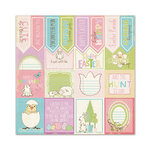 We R Memory Keepers - Cotton Tail Collection - 12 x 12 Glitter Paper - Sentiments
