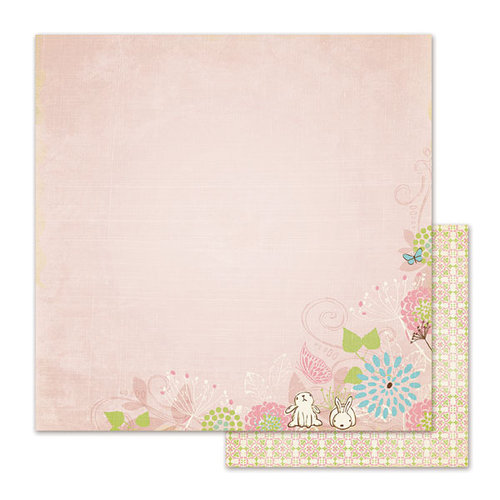 We R Memory Keepers - Cotton Tail Collection - 12 x 12 Double Sided Paper - Bunny Tail