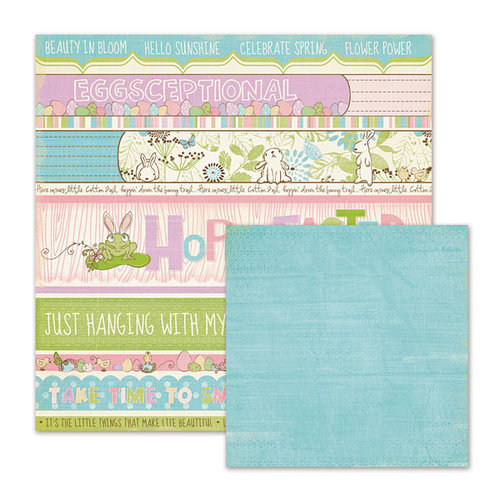 We R Memory Keepers - Cotton Tail Collection - 12 x 12 Double Sided Paper - Easter Titles