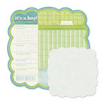 We R Memory Keepers - Baby Mine Collection - 12 x 12 Double Sided Die Cut Paper - It's a Boy