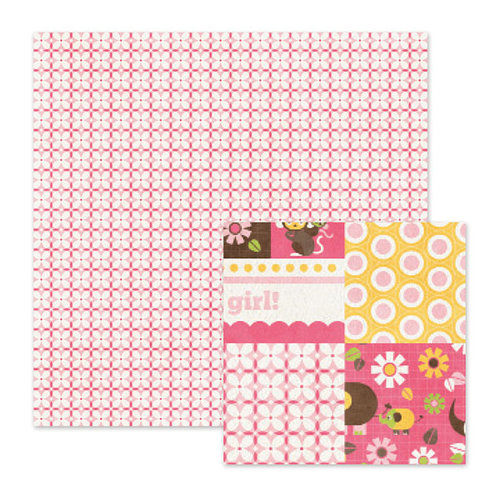 We R Memory Keepers - Baby Mine Collection - 12 x 12 Double Sided Paper - Baby Pink