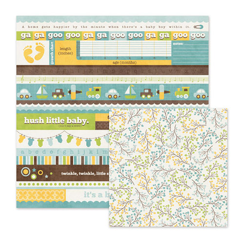 We R Memory Keepers - Baby Mine Collection - 12 x 12 Double Sided Paper - Snips and Snails