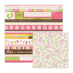 We R Memory Keepers - Baby Mine Collection - 12 x 12 Double Sided Paper - Sugar and Spice