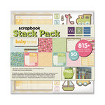 We R Memory Keepers - Baby Mine Collection - 12 x 12 Stack Pack with Varnish Accents