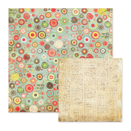We R Memory Keepers - Anthologie Collection - 12 x 12 Double Sided Paper - Phraseology