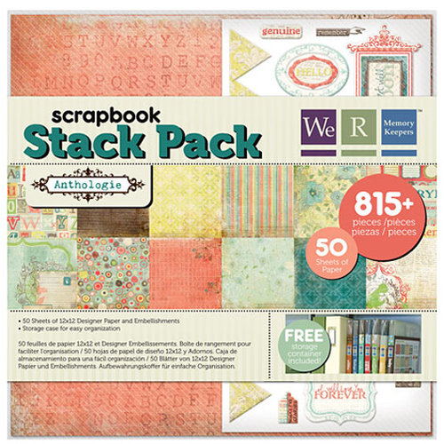 We R Memory Keepers - Anthologie Collection - 12 x 12 Stack Pack with Glitter Accents