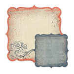 We R Memory Keepers - Down the Boardwalk Collection - 12 x 12 Double Sided Die Cut Paper - Waves