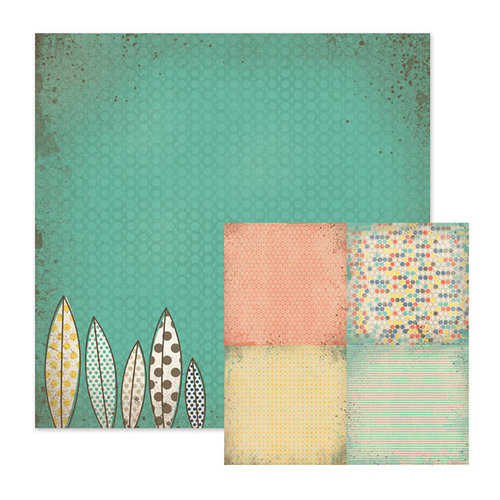 We R Memory Keepers - Down the Boardwalk Collection - 12 x 12 Double Sided Paper - Gone Surfin'